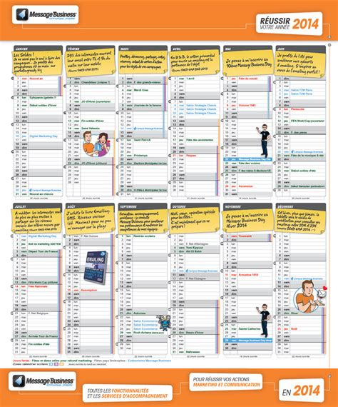 sle marketing calendar marronnier marketing et communication 2014 message business