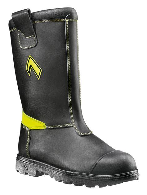 fireman boots haix fireman yellow firefighter mens new boots ebay