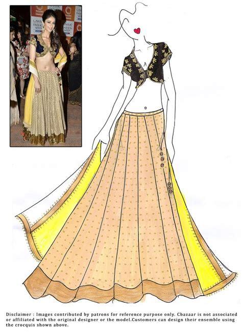 fashion illustration lehenga diy ileanadcruz lehenga choli indian