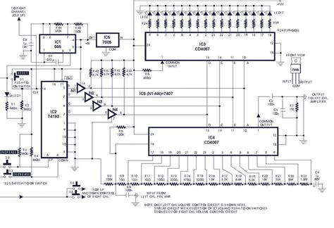 electronic diagrams and schematics digital volume circuit