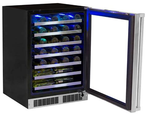 24 inch counter wine cooler marvel mp24wsg5rs 24 inch counter depth wine cooler with