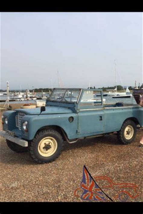 1977 land rover series 3 109 quot 6 cylinder blue grey 2 6 up