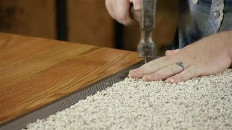 How To Replace Hardwood Floor Strips by How To Install The Transition Strips For Wood