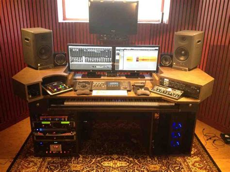 desk for recording studio home recording studio desk home furniture design