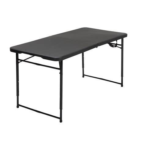 Height Adjustable Folding Table 4 Height Adjustable Folding Table In Black 14402blk1e