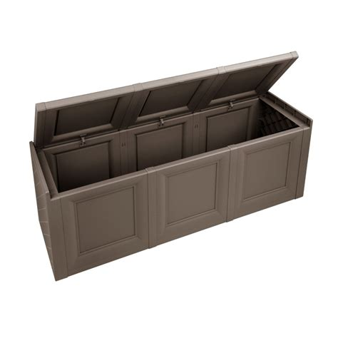 garden outdoor plastic chest storage utility cushion shed