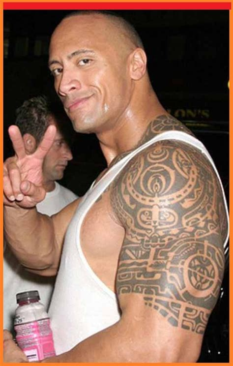 the rocks tribal tattoo awesome dwayne johnson tribal tattoos design