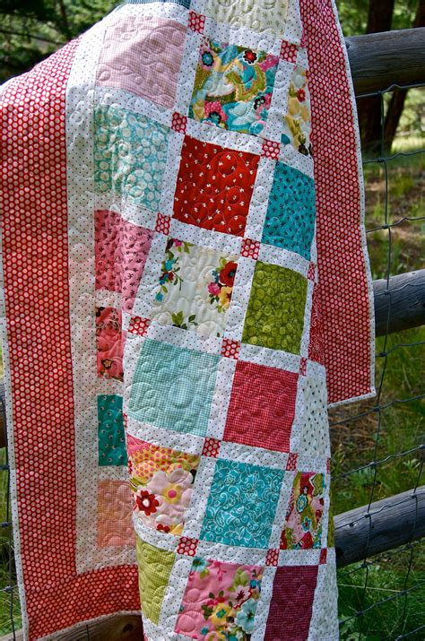 Handmade Baby Quilt - s charms handmade baby quilt by piecesofpine on