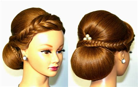 wedding hairstyle for medium long hair elegant updo
