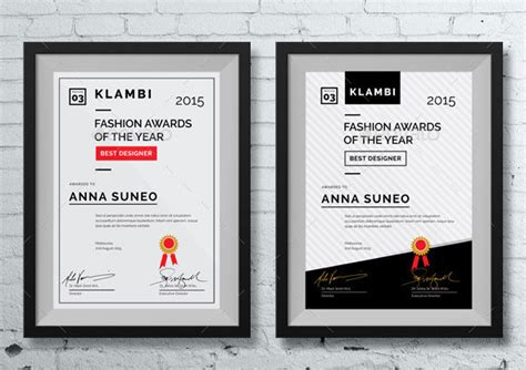 layout design awards 35 best certificate template designs template
