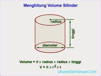 Tabung Dengan Ukuran Diameter 7 Tinggi 21 cara menghitung volume silinder tabung ukuran dan satuan