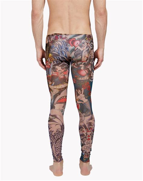 tattoo tights dsquared2 black johns for