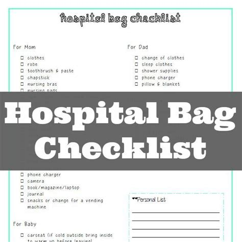 hospital bag checklist for c section 17 best images about organize my travels on pinterest