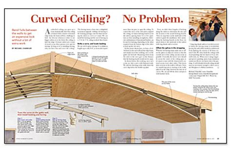 How To Make A Curved Ceiling by Curved Ceiling No Problem Homebuilding