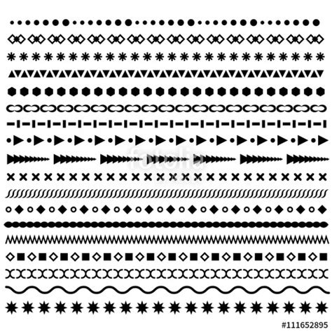 pattern line border quot line borders set geometric dotted vector dividers
