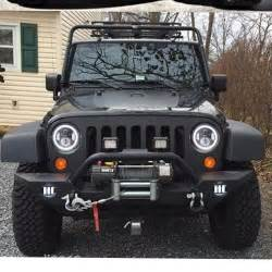 pair 7 quot cree led halo headlight for jeep