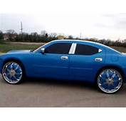 Cobalt Blue Dodge Charger On 26s Spinners Midwest