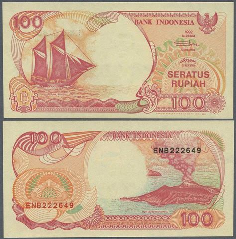 1992 Lima Ribu Rupiah indonesia 100 rupiah 1992 unc p127g banknote nicky