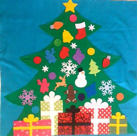felt christmas tree kids felt tree wall hanging child