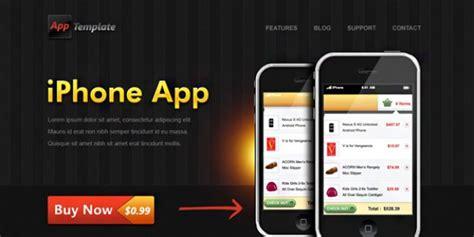 iphone app website template free iphone app website template psd file free