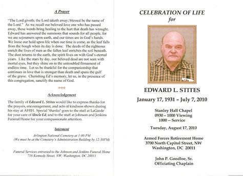 Funeral Acknowledgement Cards Template by Funeral Program Outside Jpg 1600 215 1163 Celebration Of