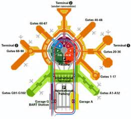 San Francisco International Airport Terminal Map by Layout Sfo Airport Myideasbedroom Com