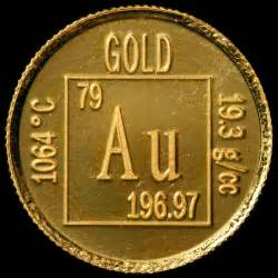 Gold Number Of Protons Element Coin A Sle Of The Element Gold In The Periodic
