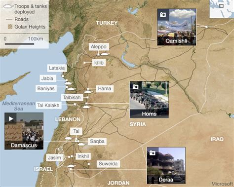 middle east unrest map syria protests mapped news