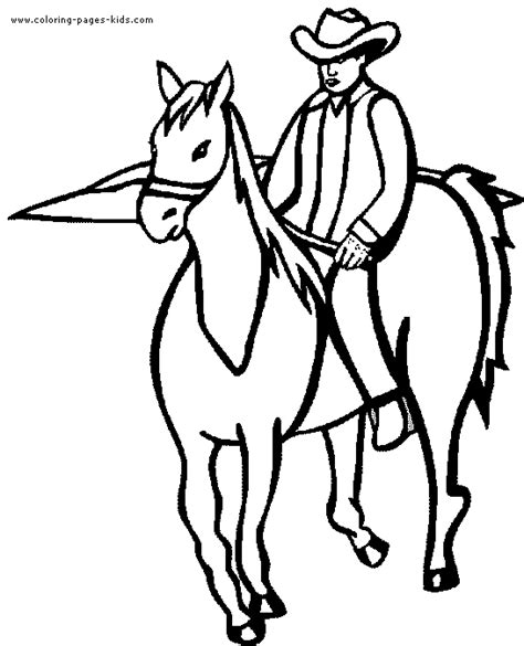 western horse rider coloring pages coloring pages