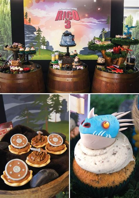 viking themed events how to train your dragon birthday party dessert table