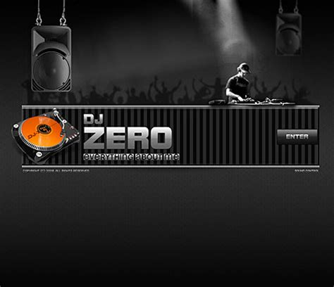 Dj Zero Flash Website Template Best Website Templates Best Dj Website Templates