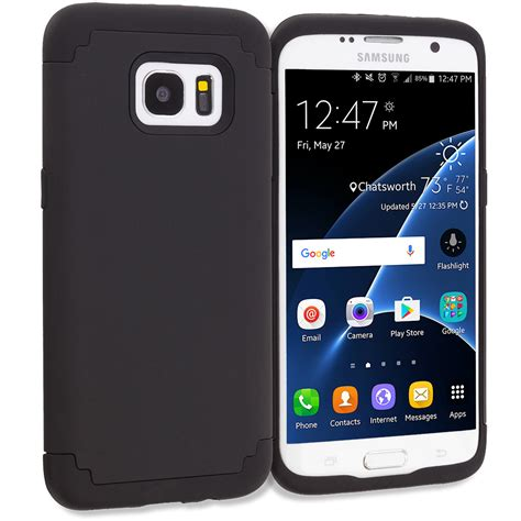 Samsung Galaxy S7 Edge Tough Hybrid Armor Casing Bumper Cover for samsung galaxy s7 edge hybrid soft slim armor cover black ebay