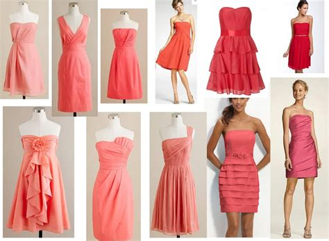 Coral Bridesmaid Dress by Bonnieprojects Wedding Wednesday Mismatched Coral