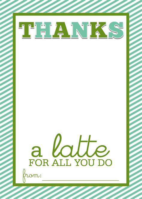Thanks A Latte Card thanks a latte on