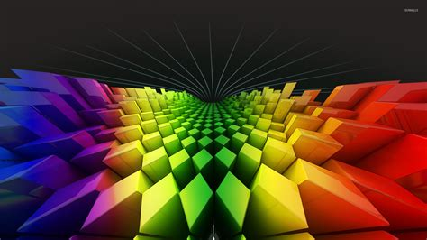 wallpaper 3d rainbow rainbow rhombuses wallpaper 3d wallpapers 22840
