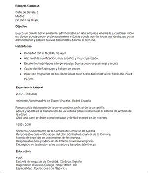 Modelo De Curriculum Vitae De Un Administrativo Modelo De Curriculum Vitae Objetivo Laboral Modelo De Curriculum Vitae