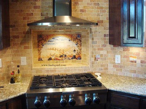 Tile Murals For Kitchen Backsplash Italian Tile Murals Tuscany Backsplash Tiles
