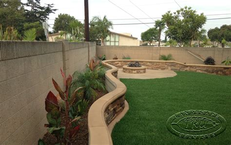 backyard planter designs fire pit archives orange county landscape contractor