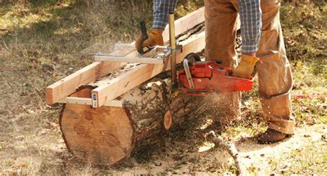 chainsaw mills log beds the make your own lumber with a chainsaw mill home design