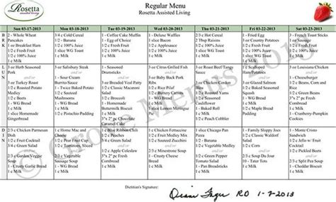 Nursing Retirement And Home On Pinterest Assisted Living Menu Template