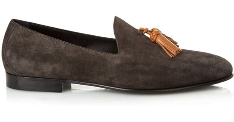 burberry loafers sale burberry prorsum lewis suede loafers in gray for lyst