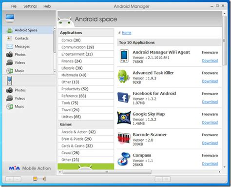 android manager android manager wifi syncs and transfer files wirelessly to windows pc
