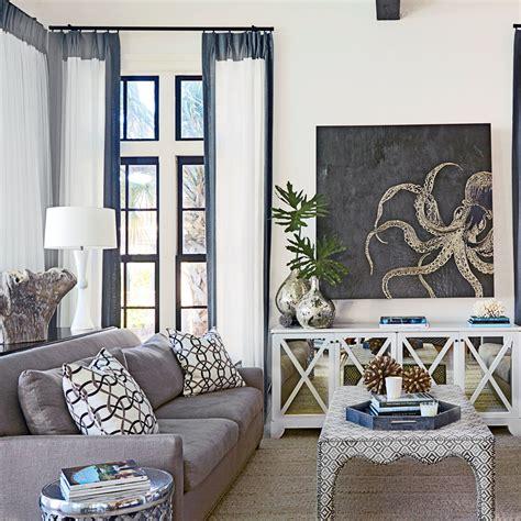 Lofty living room 40 beautiful beachy living rooms coastal living