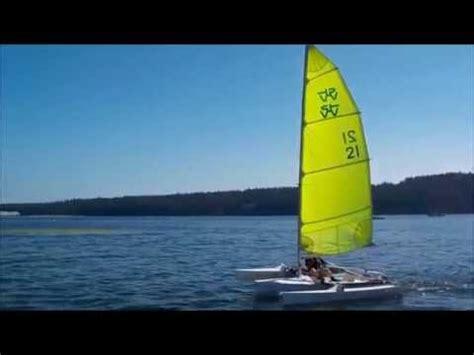 zeta trimaran 14ft zeta trimaran first sail youtube