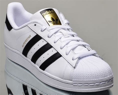 New Adidas Made In Black White adidas originals superstar lifestyle casual sneakers new white black gold ebay