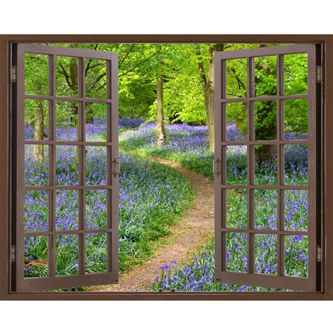 how to stick photo frames on wall without nails window frame mural bluebell wood size peel and stick
