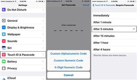 turn    change auto lock screen time  iphone