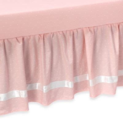 pink bed skirt from buy buy baby