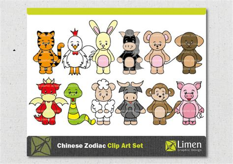 new year ox and rabbit zodiac sign clip new year animals