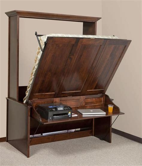 murphy bed with table murphy desk murphy bed with desk and furniture on pinterest